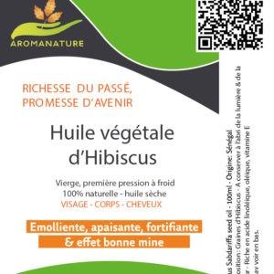 Huile végétale d'hibiscus Bio