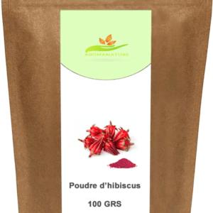Poudre d'hibiscus – Bissap – 100 GRS