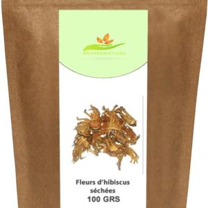 Feuilles d'hibiscus – Bissap blanc – 100 GRS