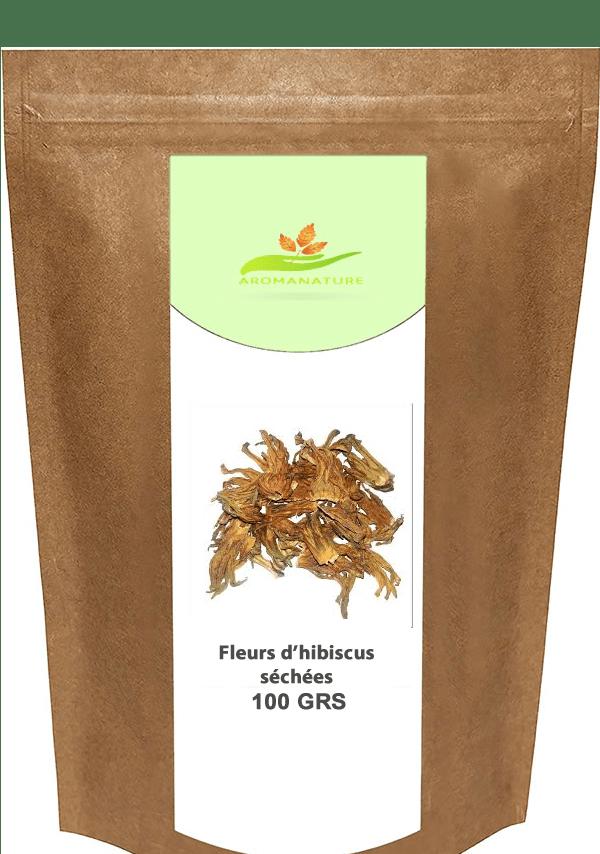 Feuilles-d'hibiscus-séchées-- 100 GRS- Blanc