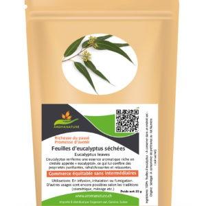Feuilles d'eucalyptus séchées – 25 grs