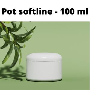 """Pots """"softline"""" avec couvercle -100ML"""